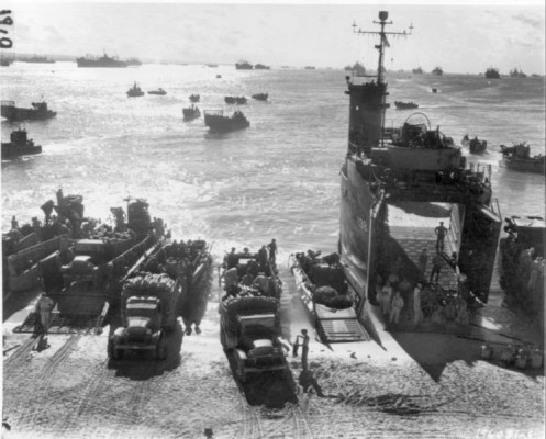 Loading Cargo at Seeadler Harbor, Manus Island